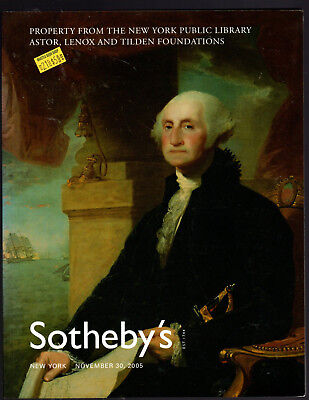 Sotheby's Ny 11/30/05 Property From The New York Public Library Astor, Lenox & T