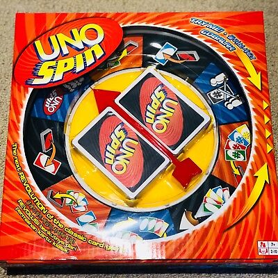 New Board Game UNO SPIN Revolution Kids Adult Fun Toy Wheel Cards Set Education