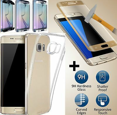 Curved 3D Tempered Glass Screen Protector For Samsung Galaxy S7 Edge + back case