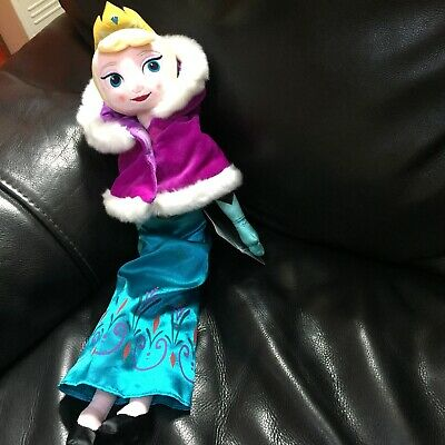 "Disney Store Frozen Coronation Elsa 21"" Plush Doll Soft Toy New With Tags"