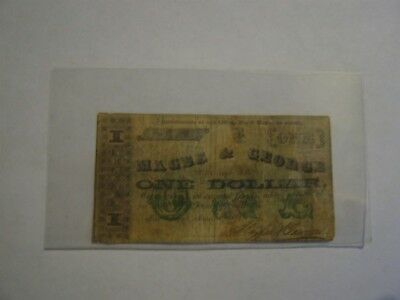 New Orleans LA - Magee & George $1 March 1, 1862