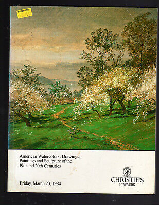 Christie's Ny 3/23/84 American Watercolors Drawing Paintings & Sculpture 19-20 C