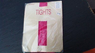 HAMPSHIRE HOSIERY-VINTAGE 80s NWT WOMEN'S SIZE X-LARGE FUCHSIA 'STIRRUP TIGHTS'