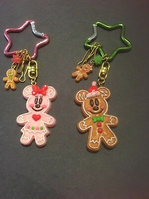 Tokyo Disney Resort Mickey Minnie Mouse Gingerbread Man Ornament Key Chain