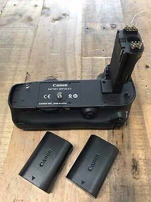 Genuine Canon BG-E11 Battery Grip for 5D Mark III camera + 2 LP-E6 Batteries