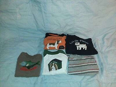 LOT of 4 Toddler Boys Size 24 Months Fall Winter Long Sleeve Shirts Gymboree