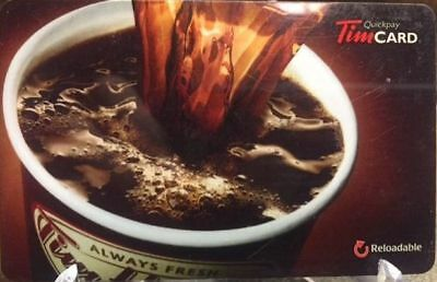 Tim Hortons Gift Card BROWN CUP Coffee Tea Canada