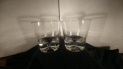 Johnnie Walker Black Label Scotch Diamond Prism Base Rocks Lowball Glasses 2