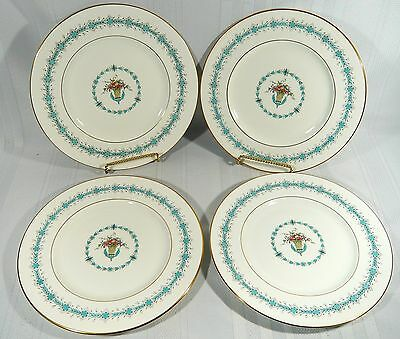 4 Coalport QUEEN ELIZABETH White Smooth DINNER PLATES 10 7/8 ""