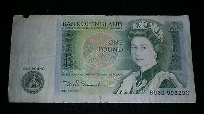 Bank Of England     1 Pound    Bank Note      # 203