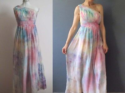 Goddess Maxi Dress Unicorn Pastel Hand Dyed X Small Buy 3+ items for FREE Post