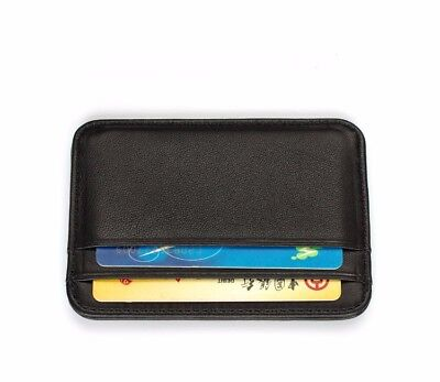 Gibo Auja - Super Slim Soft 100% Sheepskin Genuine Leather Card Holder