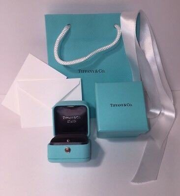 98f8dad886 Tiffany & Co Presentation Blue Leather Engagement Ring Box and Blue Box