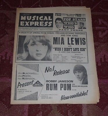 New Musical Express NME 9 April 1965 - Kinks great ads - Who's Who 3