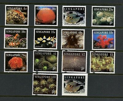 Singapore 1994  #674-84B  fish marine life definitives    14v.  MNH  L595