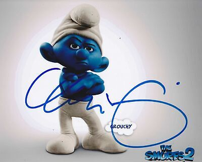 Voice Actor George Lopez Signed Grumpy Smurf Photo 8x10 COA