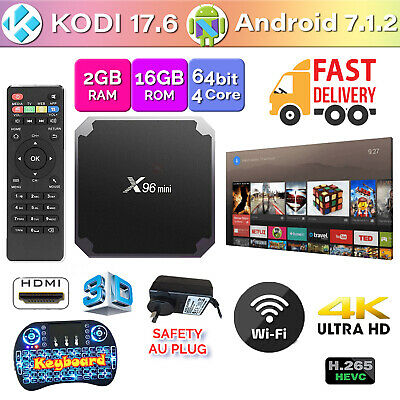 X96 Mini 4K TV BOX Android 7.1.2 Quad Core KODI 17.6 Smart Media Player 2GB+16GB