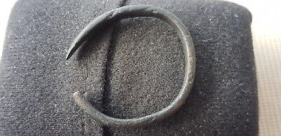 Very Rare Viking Child's bronze snake head and tail bracelet 1 of 2 found t.L52q