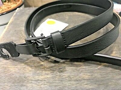 429b81858c1 Gucci Womans Blackout Skinny Belt Calfskin Leather New with Tag 370552 SIZE  40