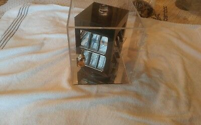 Revolving Vertical Acrylic Counter Top Locking Jewelry Display Case.