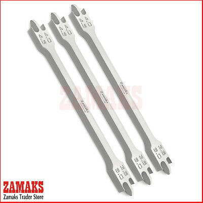Set Of 3 Dental Orthodontic Measuring Bracket Height Guages Clinical Instruments