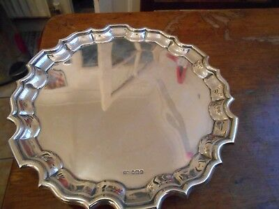 A George V antique sterling silver waiter, Sheffield 1923, by Henry Wigfull
