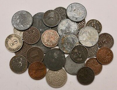 GERMANY Old Coin Lot: Collection of Old German Empire Coins