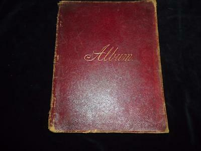 Antique autograph album 140+ pages 1890s Marsden family Huddersfield Blackpool