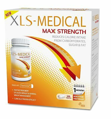 XLS Medical Max Strength - Diet Pills  Weight Loss - Pack of 120 - Free Post