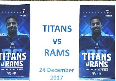 ( 2 ) Tennessee TITAN / Los Angeles RAMS Tickets 50 YARD LINE! Below Face Value