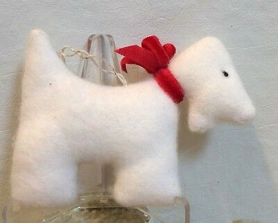 """Delightful Two-Sided Stuffed West Highland Terrier (""""Westie"""") Christmas Ornament"""