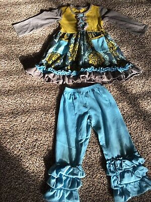 Unbranded Girls Botique Outfit Size Large Approx 4/5t