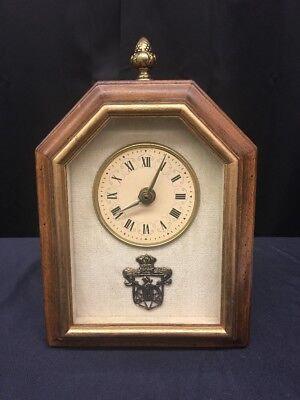 Old Vintage Wharton Studios Rockford Illinois Mantel Clock (ml73)