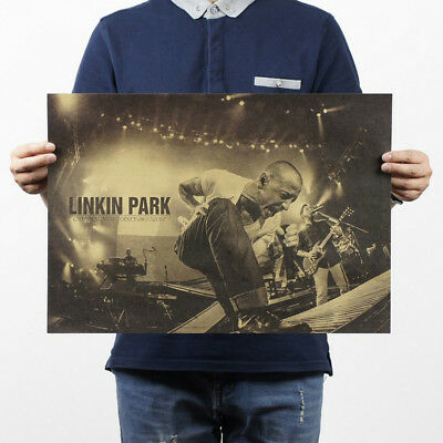 Nostalgic Rock Band Linkin Park b style/kraft paper/Cafe/bar poster/ Retro Post
