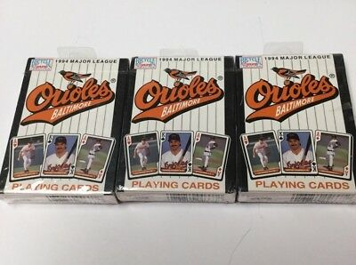 Vintage 1994 Ouioles Playing Cards Lot Of 3