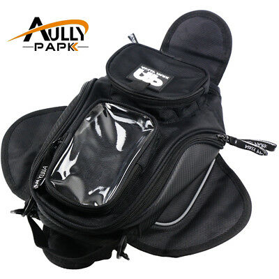 Black Oil Fuel Tank Bag Magnetic Motorcycle Motorbike Oil Fuel Tank Bag saddle B