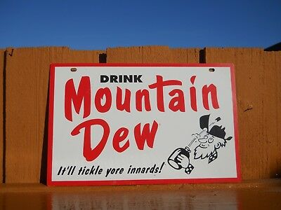 Mountain Dew  Sign - Vintage