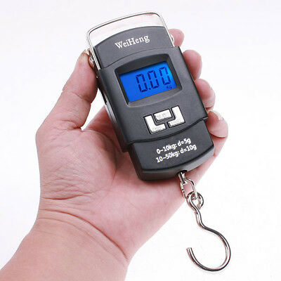 50kg*10g Mini Digital Scale Hanging Luggage Fishing Weighing Scale Fine Weighing
