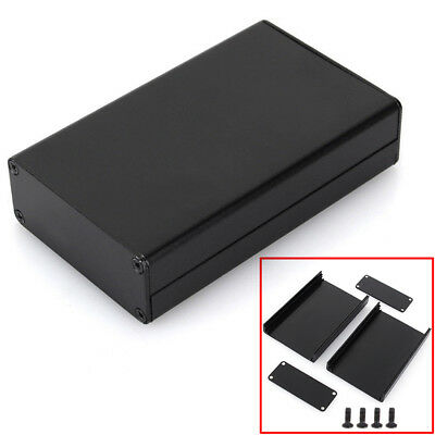 Black Extruded Aluminum Enclosure Box PCB Instrument Box DIY Electronic Project