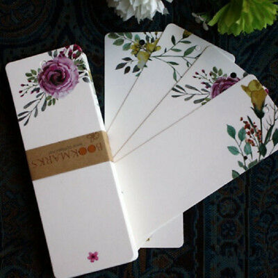40 pcs/lot DIY Cute Creative Flower Paper Bookmarks Creative Vintage Word Card O
