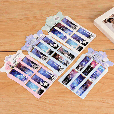6 pcs/lot Vintage Eiffel Tower Paper 2444 Stationery Korean Marks Book Magnetic