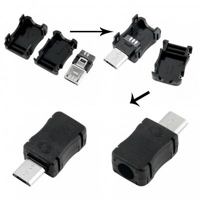 10PCS Micro USB Male Connector Jack 2.0 DIY of Kinds For Cover Plastic With