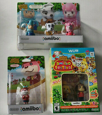 Animal Crossing Amiibo Festival Bundle Pack W/ Amiibo 3 Pack And Lottie