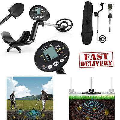 Metal Detector Treasure Hunter Waterproof Deep Sensitive Search Coil with Shovel