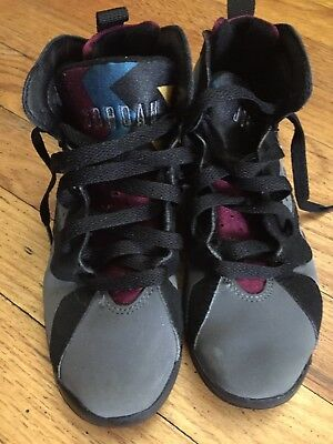 reputable site a08c9 a9a49 NIKE AIR JORDAN RETRO 7 BORDEAUX  304773-034 BOYS SIZE 13c
