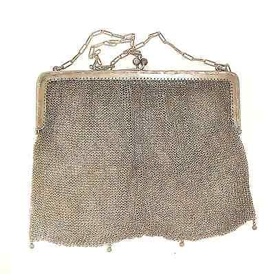 Retro Sterling Silver Mesh Hand Made Purse Fine Rare Collectable