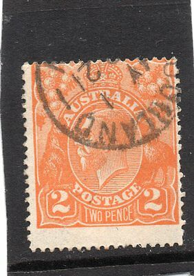 King George V used Two pence stamp. SG 62