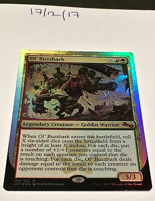 Magic the Gathering MTG Ol' Buzzbark x1 Mythic Rare FOIL Card NM/M Unstable