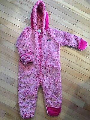 Patagonia Baby Girl's Conejito Insulated Fleece Bunting. 2T . Pink MSRP$119