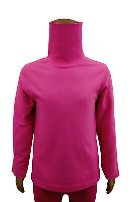 Girls Ex Debenhams Polo Neck Long Sleeve T-Shirt Top Pink Age 2 to 6 Years Kids